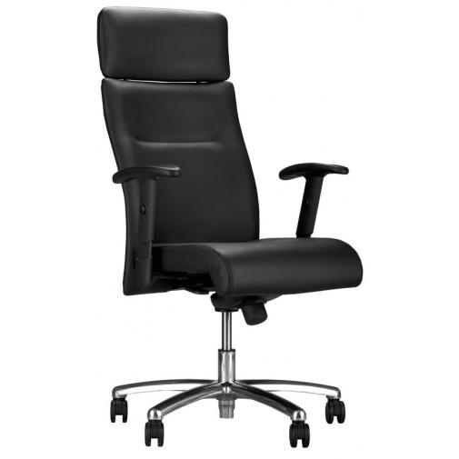 Vadovo kėdė NEO LUX R1B steel 04 su Duetto Syncron mechanizmu