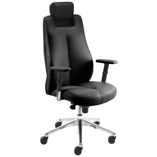Vadovo kėdė SONATA lux HRUA R15 steel 28 su Epron Syncron mechanizmu