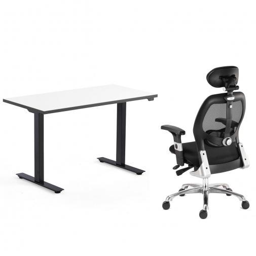Komplektas 1053 reguliuojamo aukščio stalas ir biuro kėdė