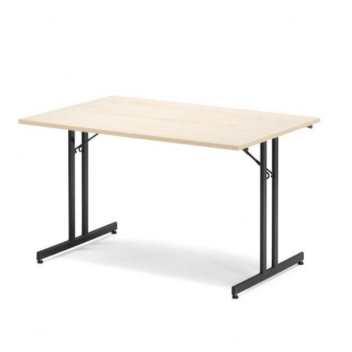 Sulankstomas stalas, beržo/juoda, H720 x W800 x L1200 mm