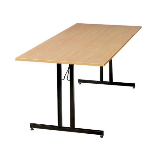 Sulankstomas stalas, buko/juoda, H720 x W800 x L1200 mm