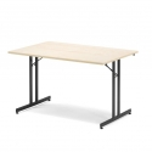 Sulankstomas stalas, beržo/juoda, H720 x W800 x L1800 mm