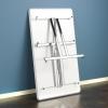 """Sulankstomas stalas """"Milla"""", balta/aliuminio lakuota, H730 x W1400 x D800 mm"""