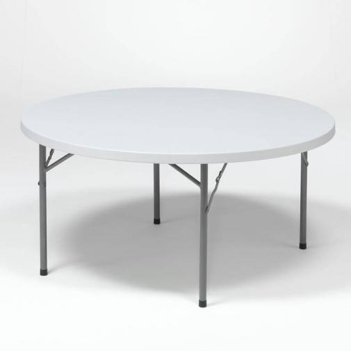 Sudedamas plastikinis stalas, H730xØ1500mm, 6-8 vietos