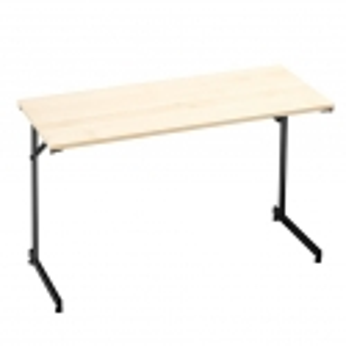 """Flexible"" konferencijų stalas, sudedamas, L1200xW600, juoda/beržo laminatas"