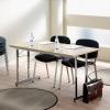 """Flexible"" konferencijų stalas, sudedamas, L1200xW600, chromas/baltas laminatas"