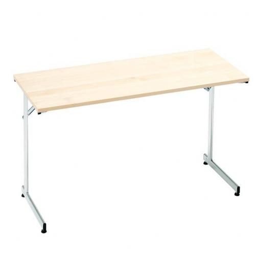 """Flexible"" konferencijų stalas, sudedamas, L1400xW700, chromas/beržo laminatas"