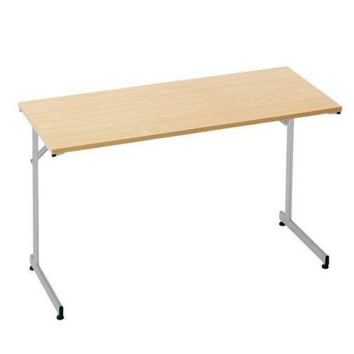 """Flexible"" konferencijų stalas, sudedamas, L1400xW700, chromas/buko laminatas"