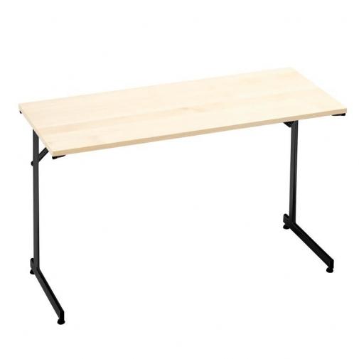 """Flexible"" konferencijų stalas, sudedamas, L1400xW700, juoda/beržo laminatas"