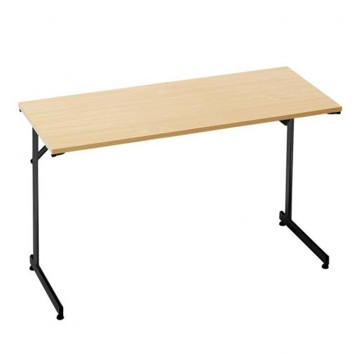 """""""Flexible"""" konferencijų stalas, sudedamas, L1200xW600, juoda/buko laminatas"""
