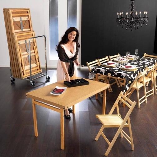 """Papildomas stalas """"Strong"""", medinės kojos, pastiprinta plokštė, H740 x W1200 x D700 mm"""