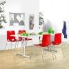 Sulankstomas valgyklos komplektas, raudonos kėdės, L1400 mm