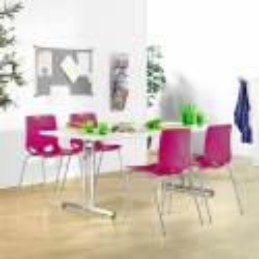 Sulankstomas valgyklos komplektas, violetinės kėdės, L1400 mm