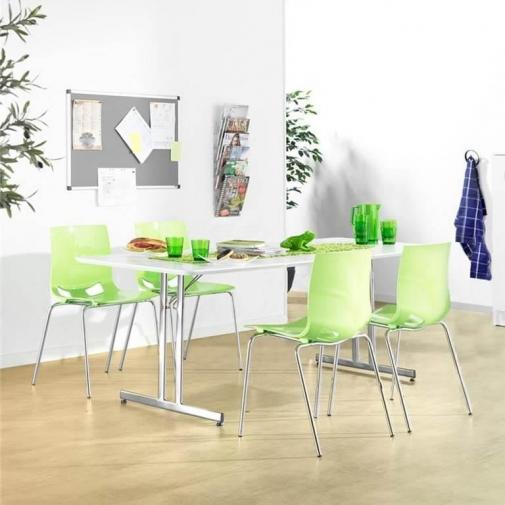 Sulankstomas valgyklos komplektas, žalios kėdės, L1400 mm