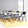 Sulankstomų baldų komplektas: stalas ir 6 kėdės