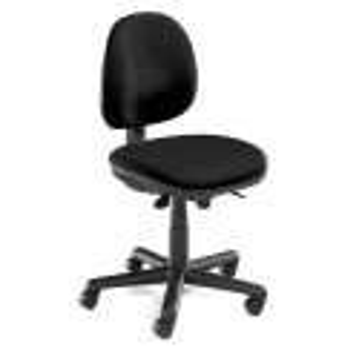 """Pramoninė kėdė """"Teknik"""", su ratukais, juodas audinys"""