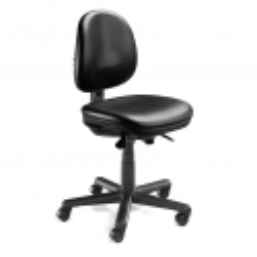 """Pramoninė kėdė """"Teknik"""", su ratukais, juodas vinilas"""