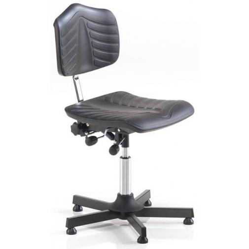Žema darbo kėdė su minkšta sėdyne
