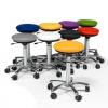 """""""Pilates"""" kėdė ant ratukų: odinė: juoda, H520-710mm"""