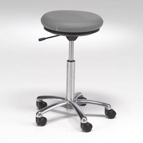 """""""Pilates"""" kėdė ant ratukų: odinė: pilka, H520-710mm"""