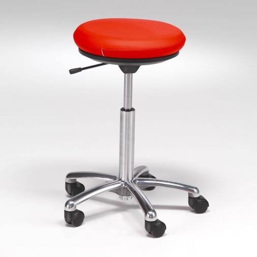 """""""Pilates"""" kėdė ant ratukų: odinė: raudona, H520-710mm"""