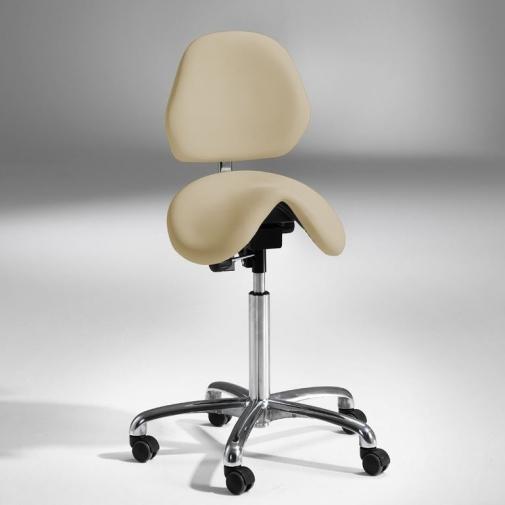 Kėdė-balnas su atlošu, beige