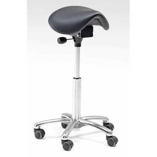Reguliuojama kėdė-balnas, dirbtinė oda, H580-770 mm