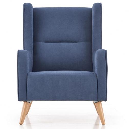 Fotelis (mėlynos spalvos)