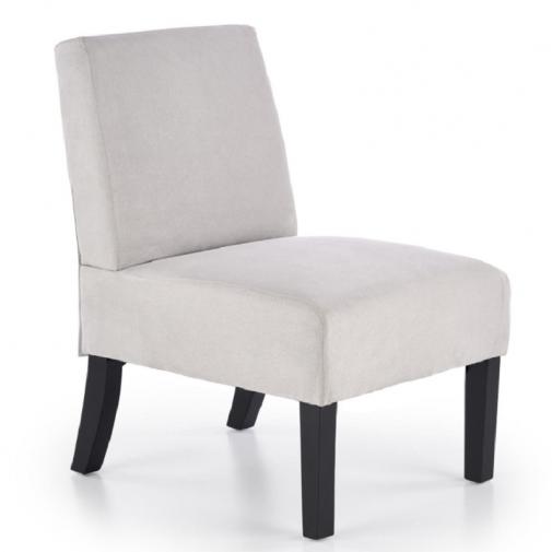 Šviesiai pilkos spalvos fotelis