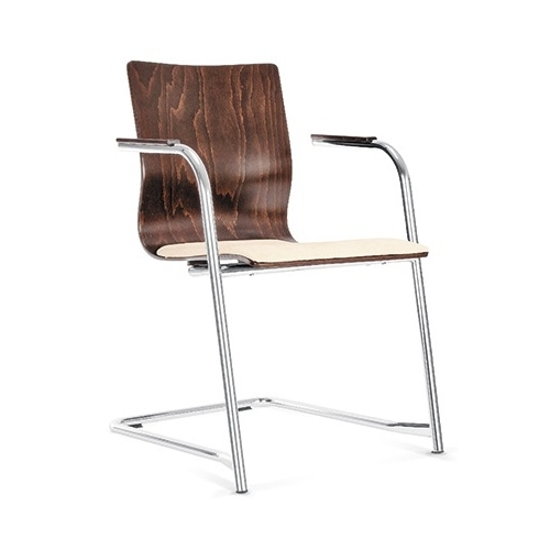 ESPACIO arm wood chrome