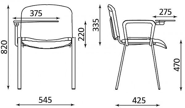 kėdės su pakeliamu staliuku