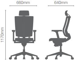biuro kėdės promax hru matmenys