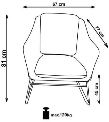 fotelio matmenys