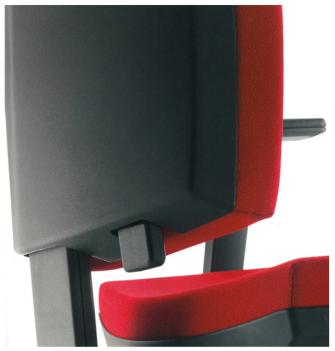 ergonominės biuro kėdės atlošo aukščio reguliavimo mechanizmas
