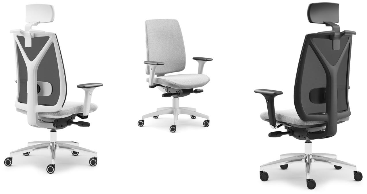 ergonominės biuro kėdės baltos