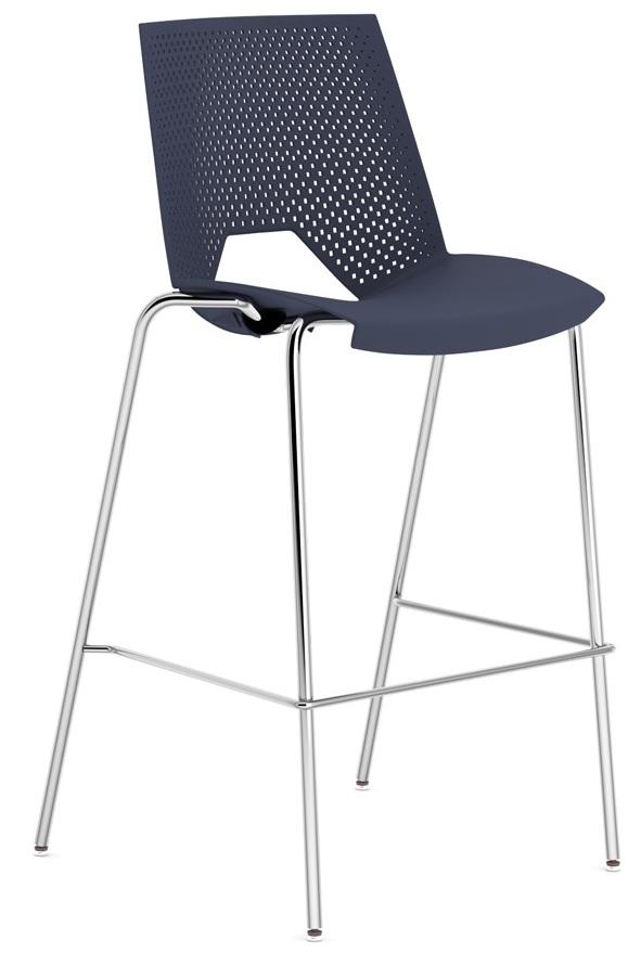 plastikinė baro kėdė