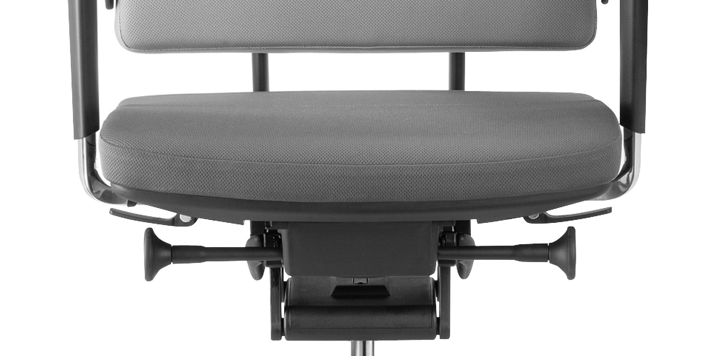 ergonominė biuro kėdė su glide tec mechanizmu