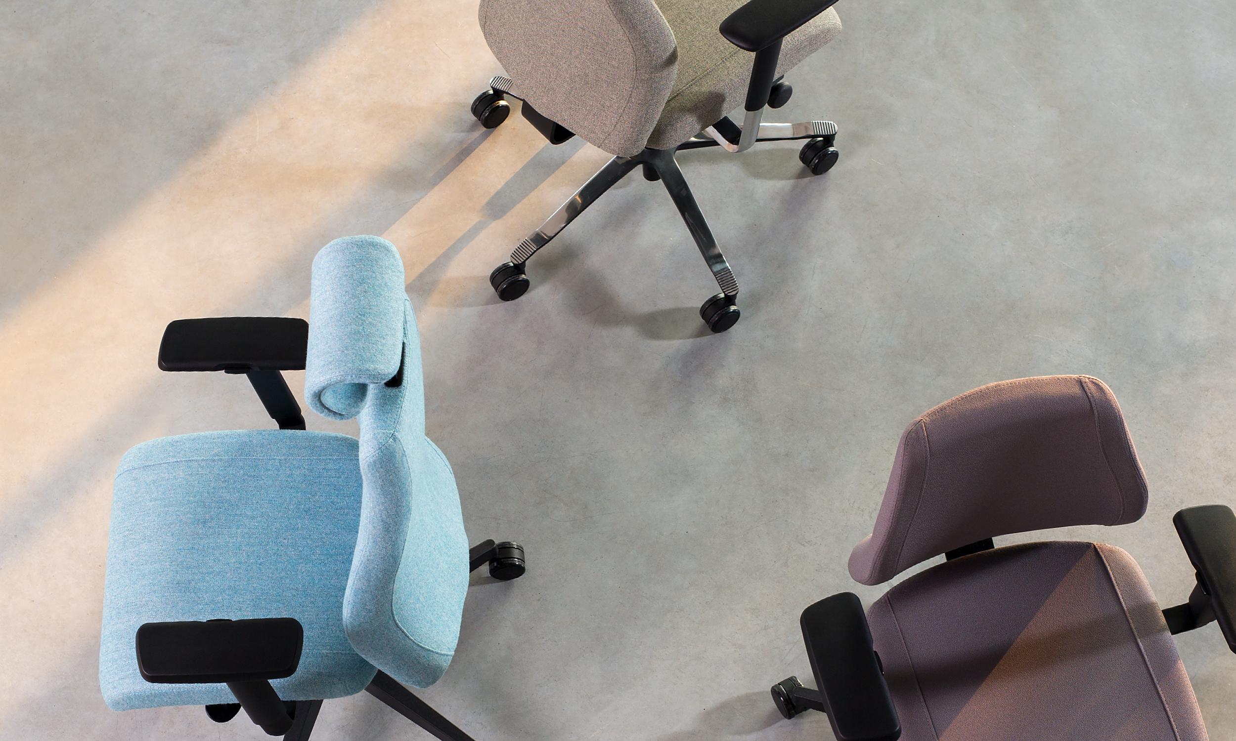 ergonominė biuro kėdė viden