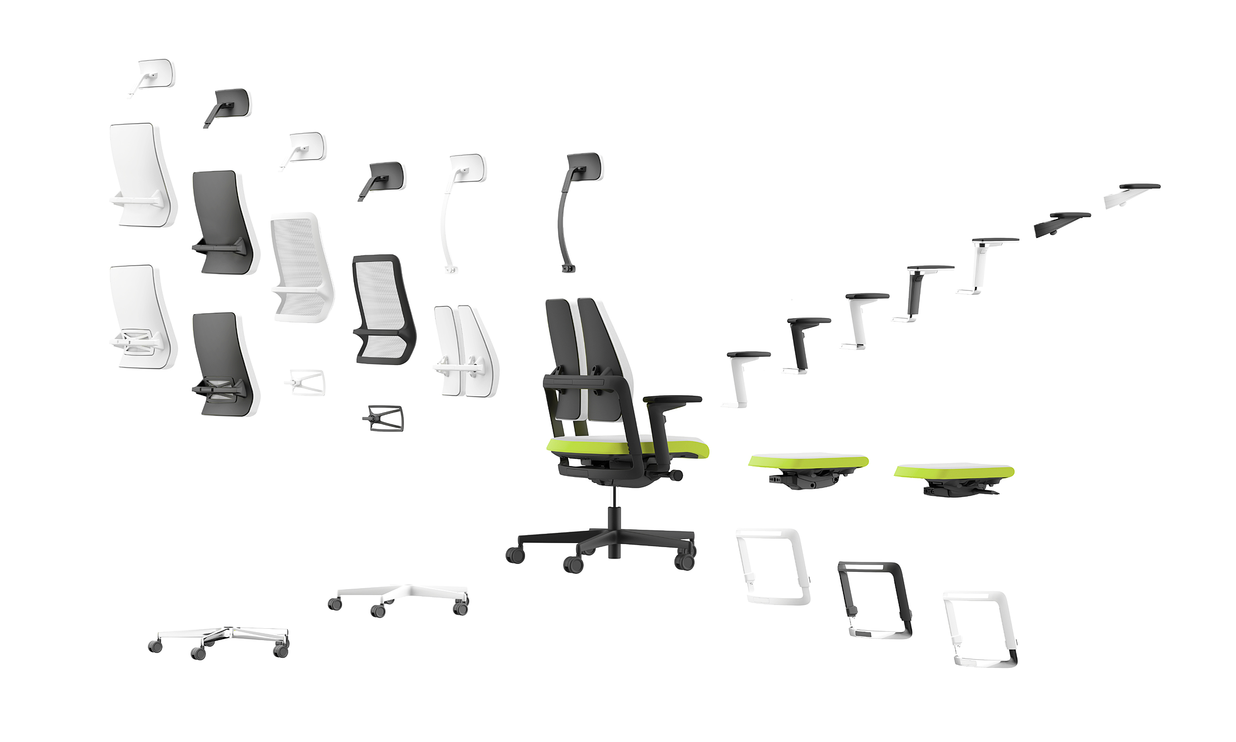 xilium biuro kėdės konfiguracija