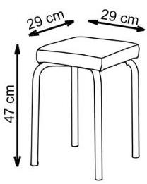taburėtės matmenys
