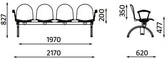 lankytojų suolo matmenys