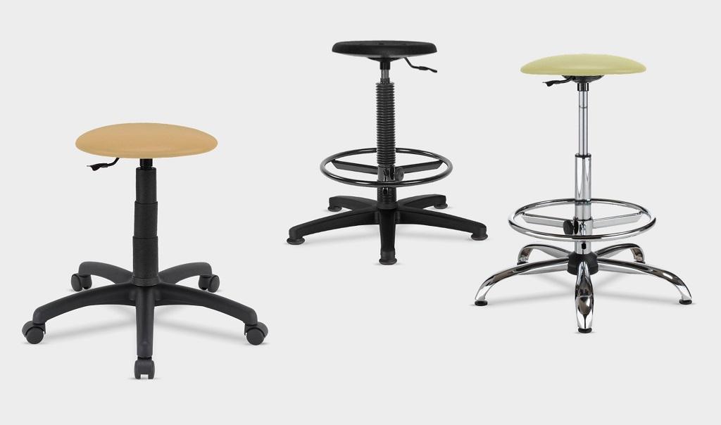 laboratorinės ir pramoninės kėdės