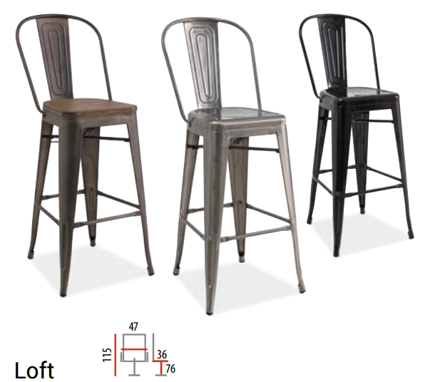 baro kėdės loft